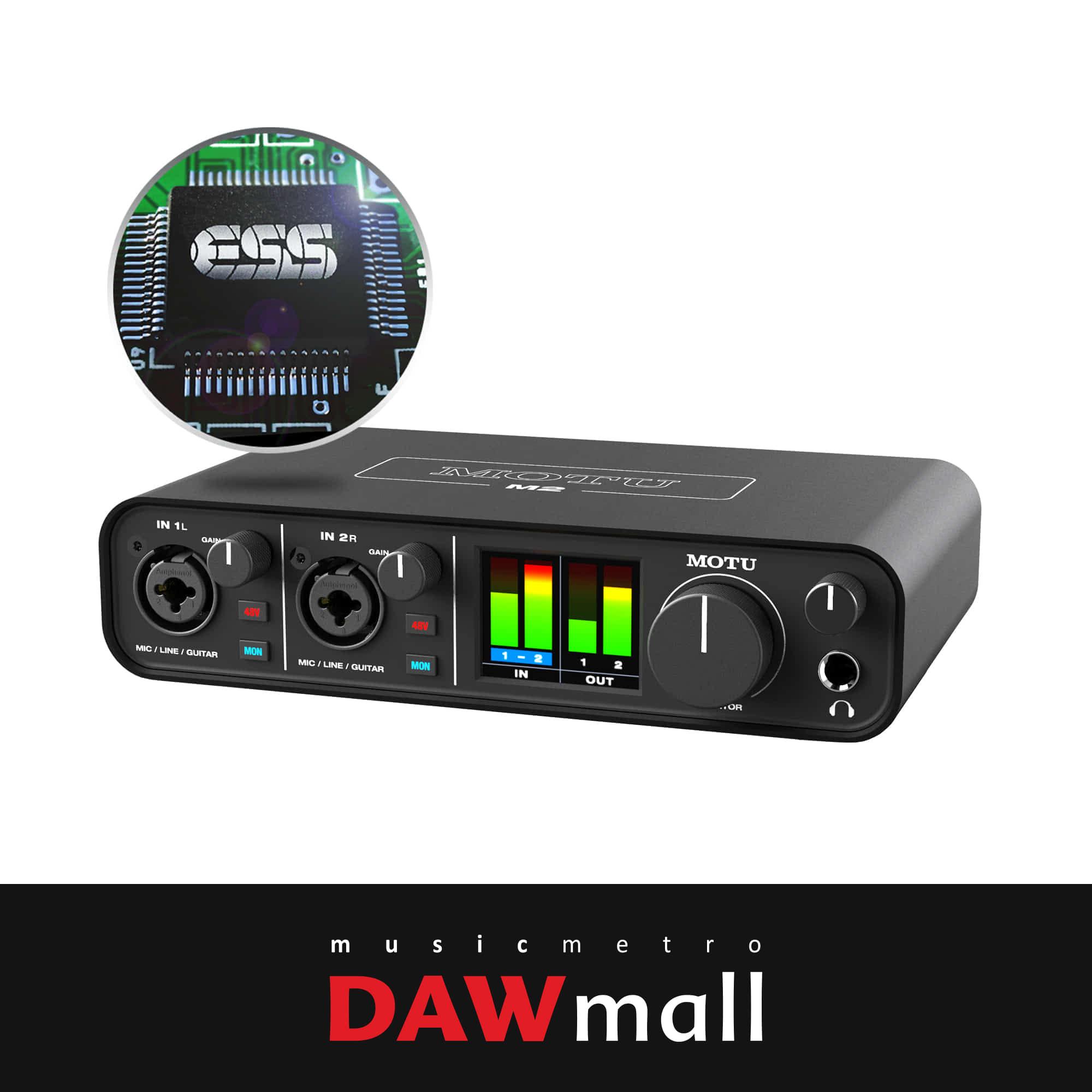 MOTU M2 USB 오디오 인터페이스