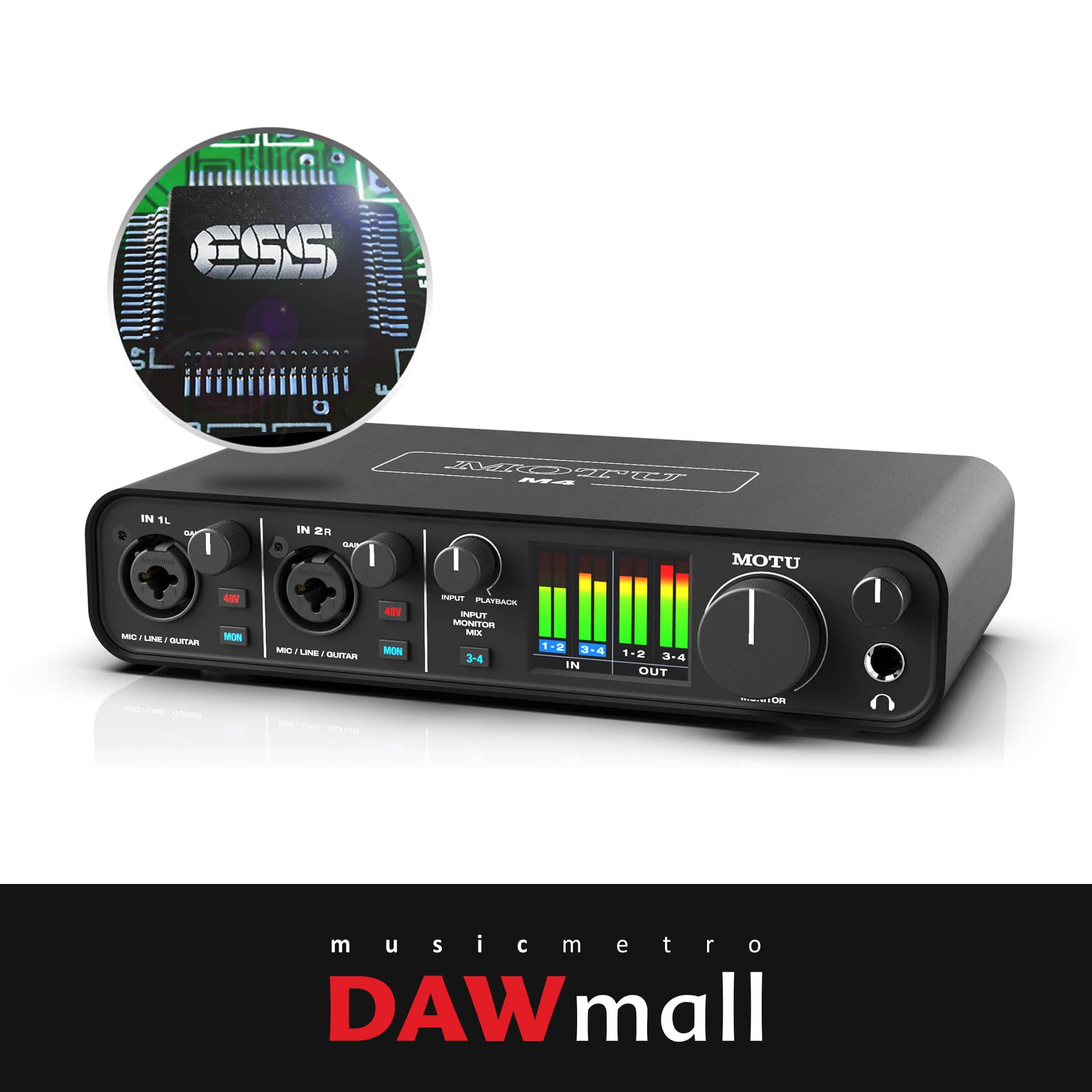MOTU M4 USB 오디오 인터페이스
