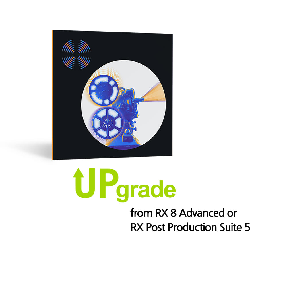 iZotope RX 9 Advanced Upgrade from RX 8 Advanced or RX Post Production Suite 5
